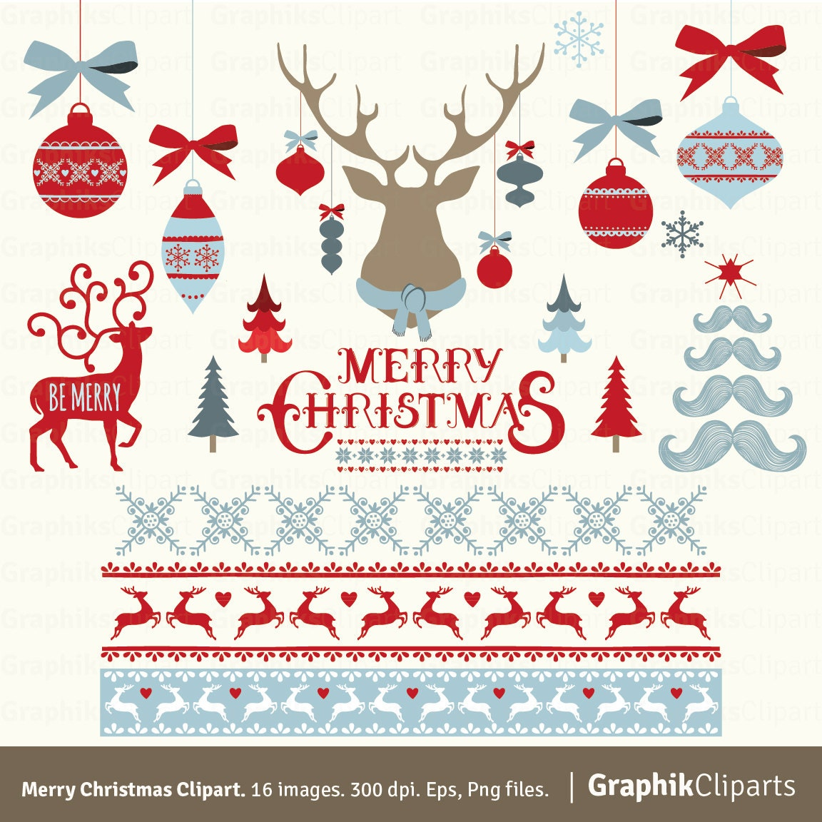 Merry Christmas Clipart. \