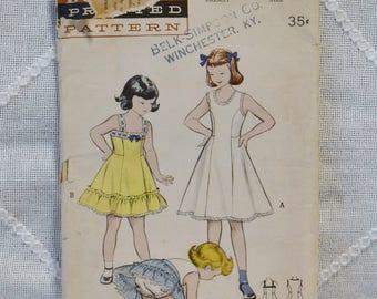 Vintage Butterick 5981 Sewing Pattern Girls Slip Petticoat Panty Set Size 10 Crafts  DIY Sewing Crafts PanchosPorch