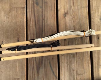 Saori loom tying rods with or without cords , 60 OR piccolo size : Saorisantacruz