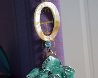 Turquoise Flower Book Bling