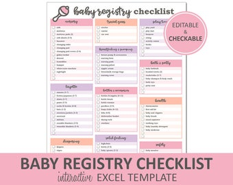 Baby Registry Checklist ...