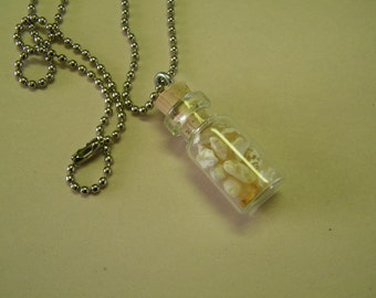 Moonstones in a Bottle Necklace