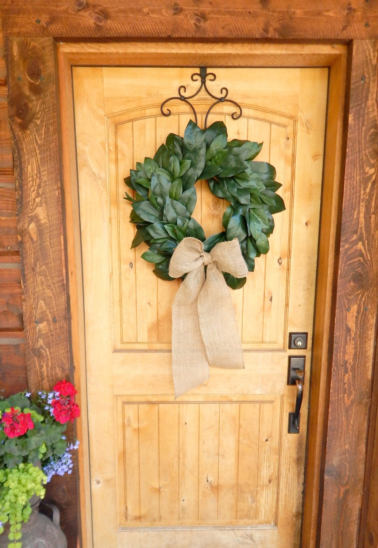 MAGNOLIA Wreath Farmhouse Wreath Magnolia Door Wreath Outdoor Wreath All  Season Door Wreaths Housewarming Wreath Wedding Gift Gift For Mom