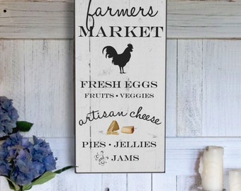 Farmers Market Sign, Rustic Farm sign, Vintage Inspired Handmade Signs, Christmas Gift Idea, Birthday Gift, Anniversary Gift