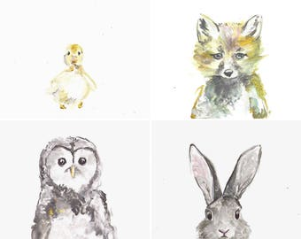 Baby Forest Creature Paintings