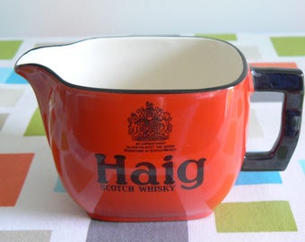 Beautiful Haig Scotch Whisky Advertising Water Jug - Made in England.