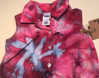 12-18 mth pink and westeria  ice dyed dress 12-18mth