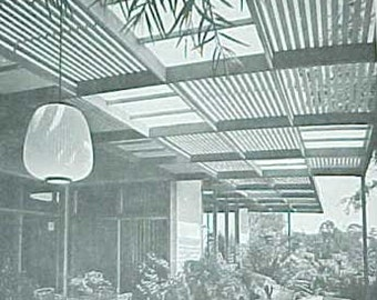 1974 How to Build PATIO ROOFS mid century modern landscape design book