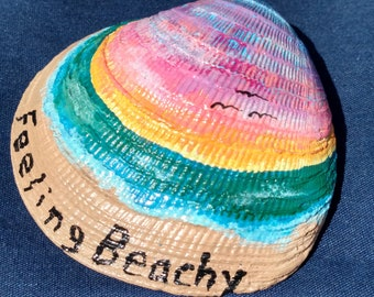"Painted Clam Shell ""Feeling Beachy"""