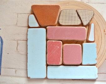 Sea Pottery, 11pcs, Beach Pottery, Mosaic Pieces, Craft Supplies, Mixed Pottery, Pink Sea Pottery, Blue Sea Pottery, Bulk Sea Pottery