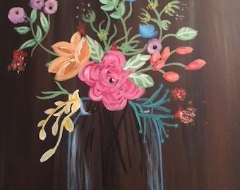 Flower Jar Painting