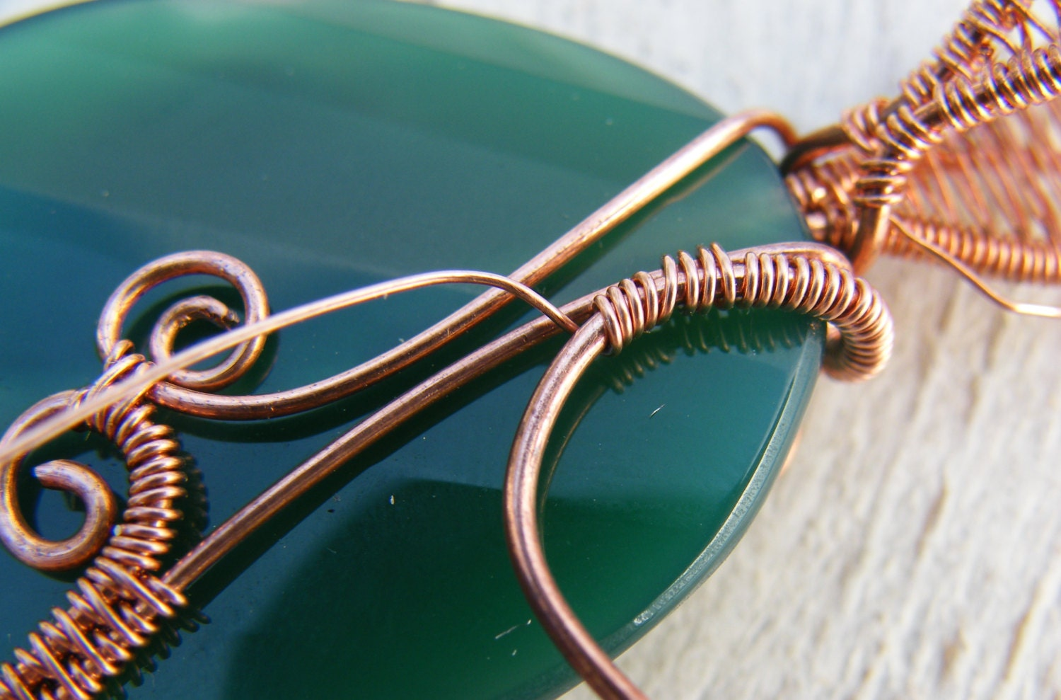 Wire Wrap Tutorial ~ Wire wrapped necklace tutorial ~ Wire Wrapping ...