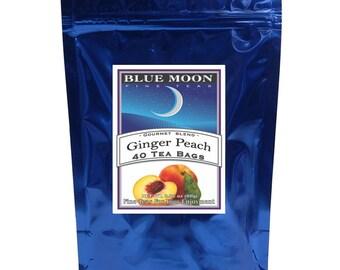 Thé à la pêche, Pack de 40 sachets de thé au gingembre