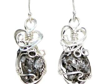 Meteorite Jewelry Earrings Stainless Steel Cosmic Design