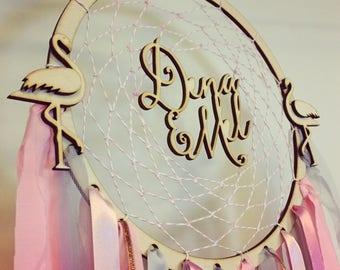 Flamingo dreamcatcher, dreamcatcher, little girl room, girl bedroom, flamingo, flamingo bedroom, flamingo nursery, girl gift,  flamingo gift