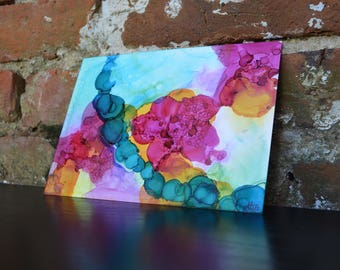 """Original Alcohol Ink Painting. """"First Blossom of Spring"""""""