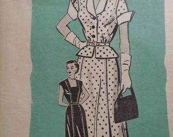 Vintage Marian Martin suit pattern 40s