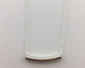 Sterling tube necklace