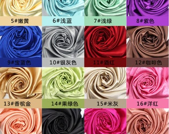 16momme crepe satin plain mulberry silk fabric real silk materials for upholstery bedding set sheet quilt duvet cover sleepwear underwear