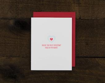 Zelda Themed Letterpress Card - Heart Container - Romance / Love / Anniversary / Valentine