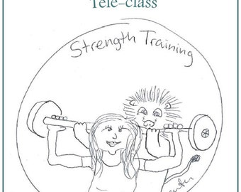 Strength Training Teleclass Recording and Workbook - self-development class using the tarot archetype of Strength