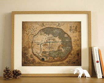 Hard-Boiled Wonderland and the End of the World Town Map / Digital Print