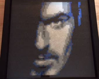 "George Michael Perler Art 12"" x 12"""