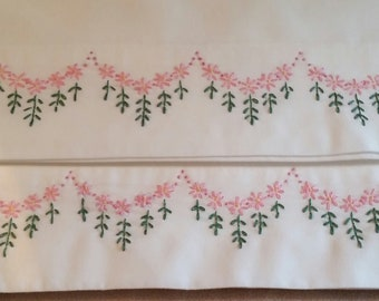 Pillowcase queen -hand embroidered