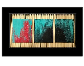 Abstract acrylic painting wall/ home decor