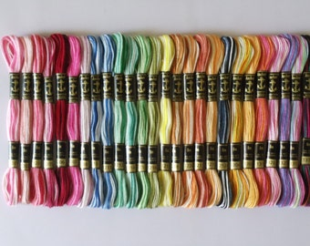 27 Anchor Variegated and Multi Colour 6 Strand Floss
