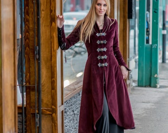 Comtesse winter coat - Steampunk coat for LARP, victorian costume and cosplay