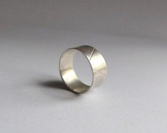 Ring for men I, brushed silver
