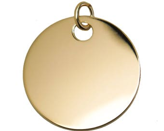 Large medal 35 mm plated gold