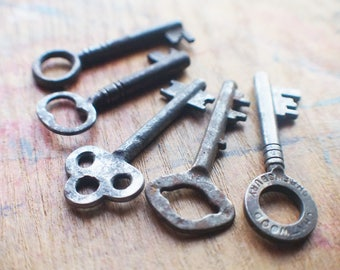 Antique Skeleton Key Lot - Perfect Pendant Set - Instant Collection