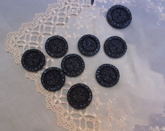 9 large buttons old 40/50s