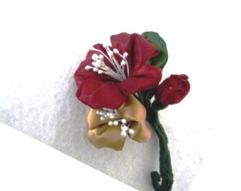 Wired ribbon corsages