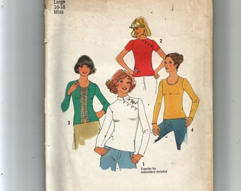 Simplicity Misses' Pullover Tops Pattern 7445