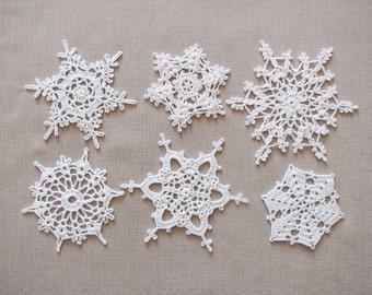 White lace snowflakes Christmas decors Xmas tree ornaments Wedding decors Garland motif