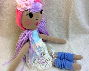 Handmade doll, Fabric doll, Girl doll, Birthday gift, Child Gift, Kid Gift, Soft Toy, Rag Doll, Baby Shower, Plushie, Cloth Doll, Doll