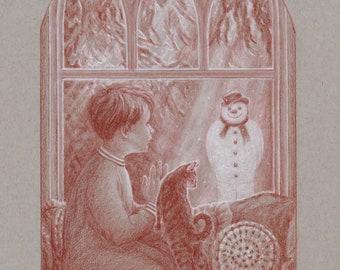 The Snowman - Fine Art Print by Daniel Lovely