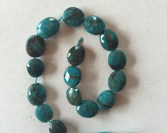 Faceted Chrysocolla Stones (item no. 5609)