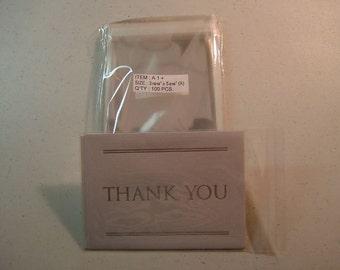 AF11  100 Clear Cellophane Envelopes A1  3 13/16 x 5 3/16 (9.7cm x 13.2cm)