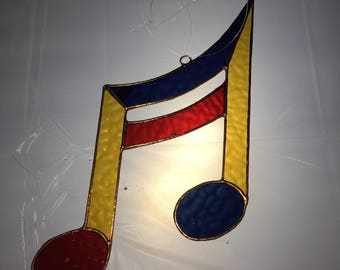 Stained glass music note