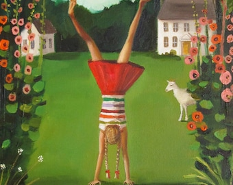 The Handstand. Art Print