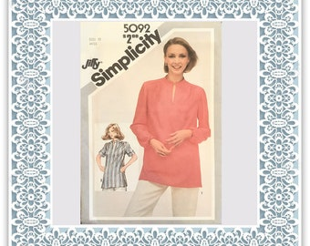 Simplicity 5092 (1981) Misses' Jiffy pullover tunic - Vintage Uncut Sewing Pattern