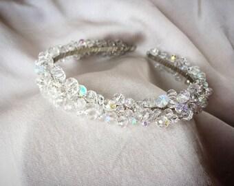 Bridal hair tiara, Bridal crystal headpiece,clear tiara, wedding hair piece crystal headpiece wedding tiara crystal crown hair accessory