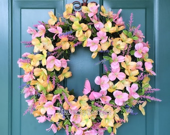Alstroemeria Wreath, Spring Wreath, Summer Wreath, Front Door Decor
