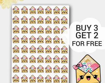 Kawaii Mail Sticker,Happy Mail, Happy Mail Stickers, Happy Mail Planner Stickers, Envelope Planner Stickers, Erin Condren