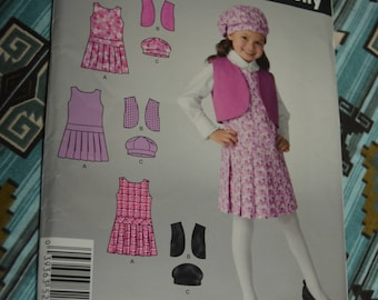 Simplicity 2511 Childs Jumper Vest and Hat Sewing Pattern - UNCUT - Size 3 4 5 6 7 8