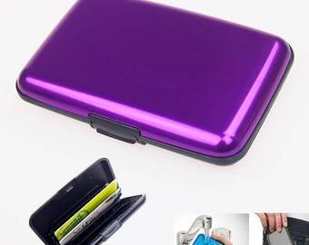 1 box door (Credit cards) WATERPROOF purple.